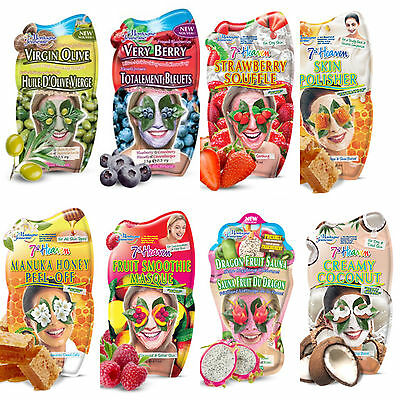 Montagne Jeunesse '7th Heaven' Face Masks - Mixed Varieties For All Skin Types.