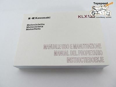 Original Kawasaki Bedienungsanleitung Manual KLX 125 Spanish Italian Dutch