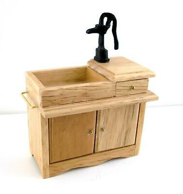 Dolls House 1:12 Kitchen Furniture Old Fashioned Victorian Sink with Hand Pump