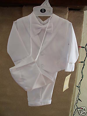 NWT Infant  Boy White Christening Small 3/6 months