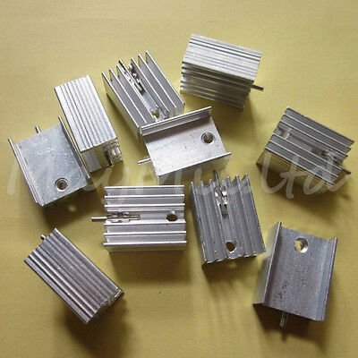 5pcs 21x15x10mm IC Aluminum Heat Sink With Needle TO-220 Mosfet Transistors J