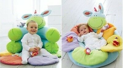 Baby Inflatable Seat Baby Donkey Play Mat Game Pad Blossom Farm Sit Me Up Cosy