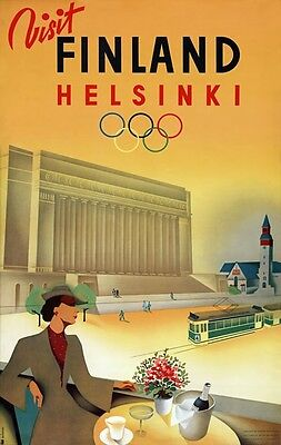 TX23 Vintage 1937 Finland Rovaniemi Finnish Travel Poster Re-Print A1//A2//A3