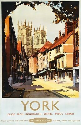 TX341 Vintage YORK Yorkshire British Railway Travel Poster Re-Print A2/A3/A4