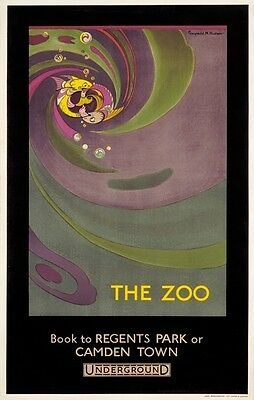 TX273 Vintage The Zoo London Underground Railway Travel Poster Re-Print A2/A3/A4
