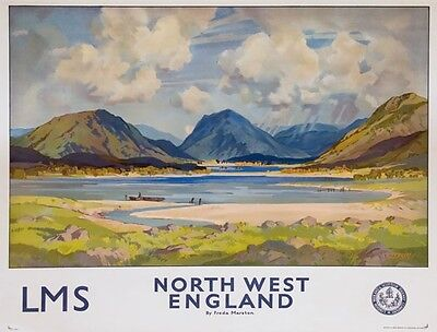 TX296 Vintage North West England LMS Railways British Travel Poster A2/A3/A4