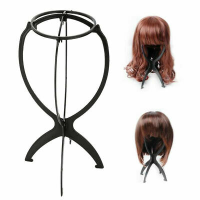 Black Wig Display Stand Mannequin Dummy Head Hat Cap Shop Holder Storage Folding