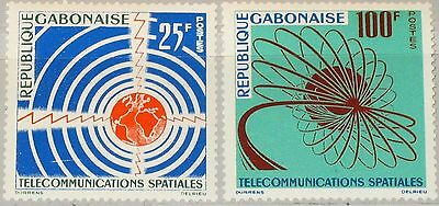 GABON GABUN 1963 185-86 167-68 Space Communication Satelliten Telekommunikation
