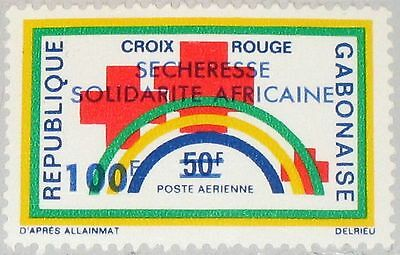 GABON GABUN 1973 513 C143 Red Cross Rotes Kreuz Drought Emergency ovp MNH
