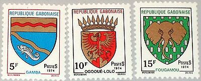 GABON GABUN 1974 523-25 321-23 City Coat of Arms Stadtwappen Wappen MNH