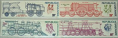 GABON GABUN 1975 556-59 C162-65 Locomotives Lokomotiven Züge Trains Railroad MNH