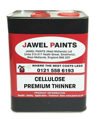 Car Paint THINNERS CELLULOSE PREMIUM HIGH GLOSS 2.5lt Size