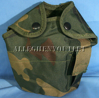 Military Woodland Camouflage Camo ALICE 1 Quart Qt Canteen Cover Pouch NEW