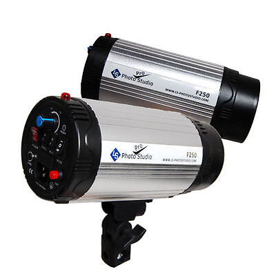 Lusana Studio 2PCS 250W Photography Monolight Lighting Strobe Flash F250-2P