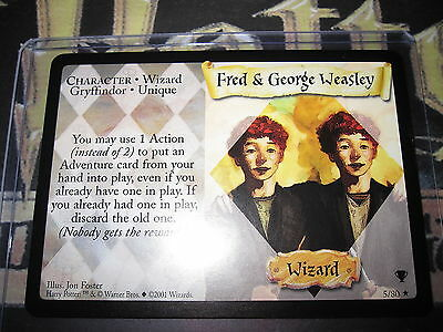Harry Potter Trading Card Game Tcg Quidditch Fred & George Weasley 5/80 R Mint