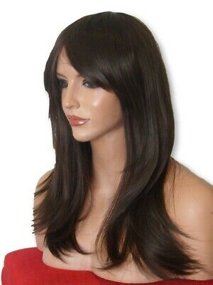 Brown Wig Fashion medium natural wig party Brown Lady cheap Ladies Wig UK L-4