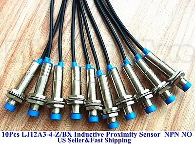 10pcs New LJ12A3-4-Z/BX Inductive Proximity Sensor Switch NPN DC6-36V