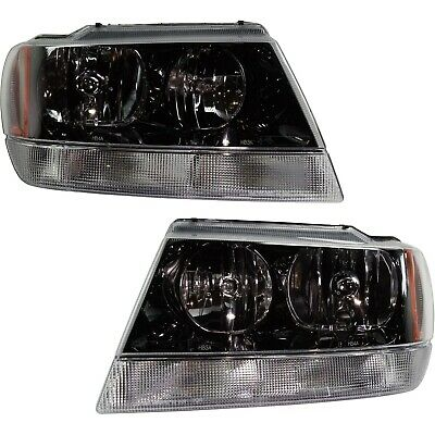 HEADLIGHT SET FOR 99-2004 Jeep Grand Cherokee Left and Right ... on cadillac cts headlight wiring harness, 98 xj battery harness, 2002 jeep cherokee fan harness, jeep cherokee wiring diagram, nissan altima headlight wiring harness, dodge caravan headlight wiring harness, lexus lx470 headlight wiring harness, ford expedition headlight wiring harness, jeep cherokee starter wire harness, chevy cobalt headlight wiring harness, jeep cherokee headlight switch, jaguar x type headlight wiring harness, jeep cherokee headlight bulb, ford focus headlight wiring harness, buick lucerne headlight wiring harness, saturn outlook headlight wiring harness, porsche cayenne headlight wiring harness, nissan xterra headlight wiring harness,