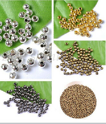 2MM 3MM 4MM 5MM 6MM 8MM 10MM silver plated metal round beads spacer