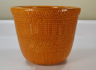 "R.R.P. Roseville Ohio 9"" Light Orange Vase Robinson Ransbottom Pottery"