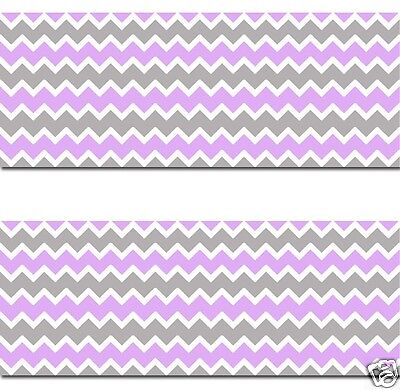 Purple Grey Chevron Wallpaper Border Wall Art Decal Baby Girl Nursery Room Decor