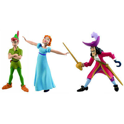 Bullyland Disney Peter Pan Figures- Choice of 3 (One Supplied)- Cake Toppers