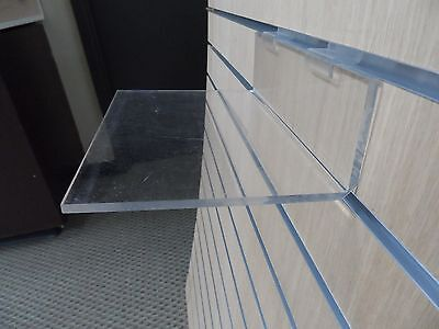 Lot of 20 Clear Acrylic Shoe/Display Shelf 9x6x1/4 in