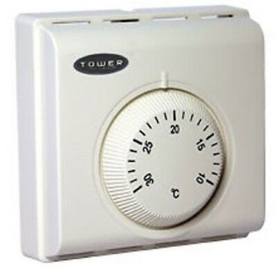 Central Heating Room Stat Dial Control Combi Boiler  Volt Free Type Tower Sttrs1