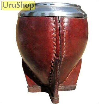 M2 Luxury Natural Yerba Mate Gourd Leather With Metal