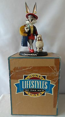 Warner Brothers 1994 Honey Bunny With Poodle  Shopaholic Statue MIB #G328