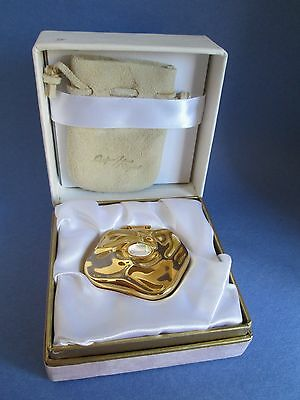 Quelques Fleurs Solid Compact Perfume Houbigant Limited Edition Moonstone MIB