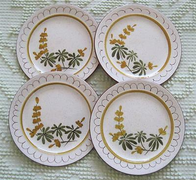 "Four 1960's Stangl Pottery Golden Blossom 6"" Bread and Butter Plates"