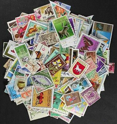WORLDWIDE OFF PAPER Postage Lot of 100 Used Stamps, NO DUPLICATES, Nice Variety