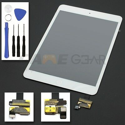 Touch Screen Glass Digitizer IC Chip Button Front Lens for iPad Mini 1 2 White
