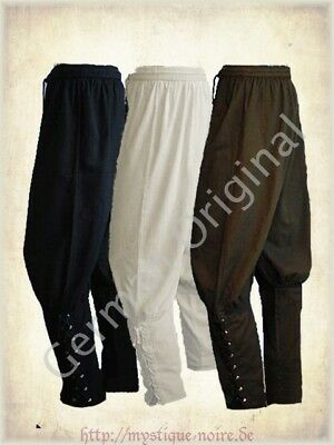 Medieval Viking Navigator Trousers Reenactment SCA Larp Laced Up 3 Colours
