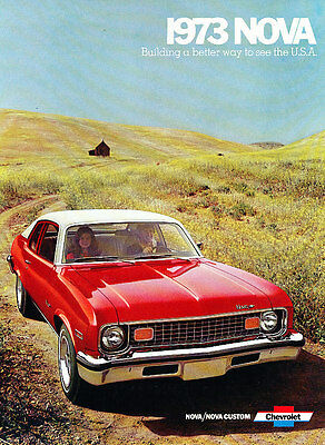 1973 Chevrolet Nova 12-page Original Car Sales Brochure - SS Coupe Chevy