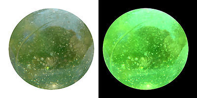 "25mm (1"") GREEN VASELINE GLASS - LUSTRE FINISH - VERY RARE"