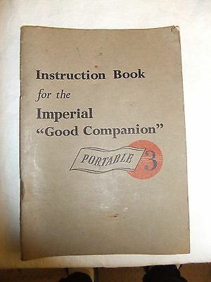 Instructions typewriter IMPERIAL 'GOOD COMPANION' 3  - CD / Email