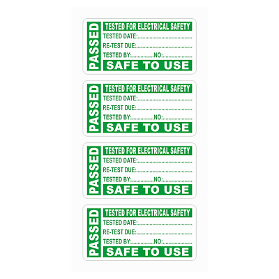 PAT TEST PORTABLE APPLIANCE TESTING PASSED LABELS STICKERS 50mm x 25mm 20 40 60