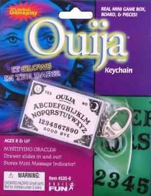 Ouija Real Mini Game Box Board  and Pieces Keychain