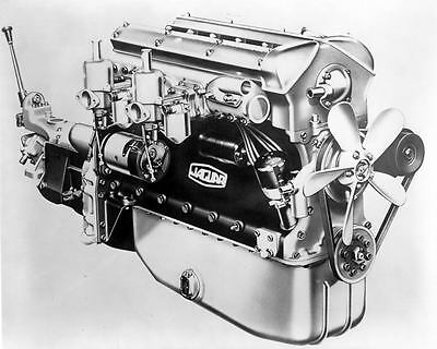 1949 1950 Jaguar XK120 Engine Photo Poster zm2382