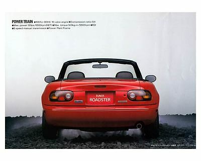 1989 Mazda Eunos Miata Roadster Automobile Photo Poster zm2427