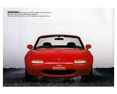 1989 Mazda Eunos Miata Roadster Automobile Photo Poster zm2428