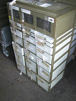 MEDICAL INSTRUMENT CABINET & SUPPLY SET CHEST, MILITARY SURPLUS