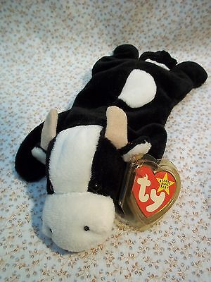"TY Beanie Babies 9"" Long Cow ** DAISY **    new w/ Tags 5th Generation '98-2000"