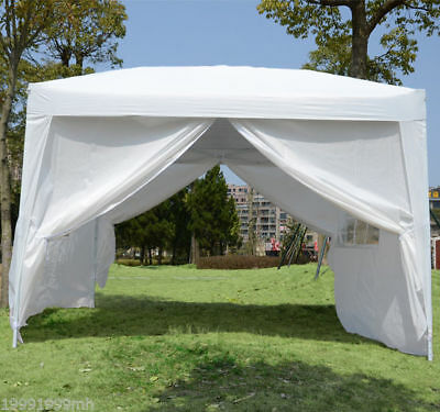 Outsunny 10x10ft Pop Up Party Tent Gazebo Canopy with Removable Sidewalls White