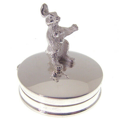 Sterling Silver Bunny Rabbit Tooth Fairy Box. Fully Hallmarked 925 Tooth Fairy