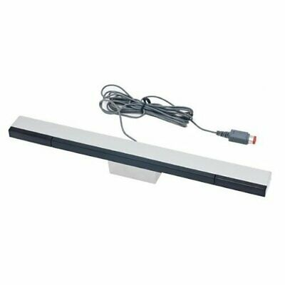 ZedLabz wired infrared ray LED sensor bar for Nintendo Wii U inc stand silver