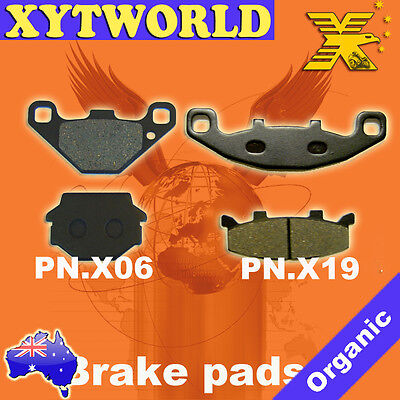 FRONT REAR Brake Pads for Kawasaki ZZR 250 EX 250 1990-2007