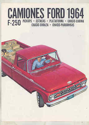 1964 Ford F250 Pickup Truck Brochure Export Spanish wu1008